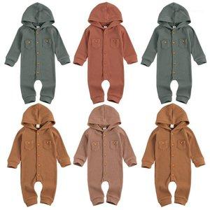 CATHYERY BABY BEAR Jumpssuit Bouche NOUVEAU -n -n Boys Bouton à capuche à capuche à capuche à manches longues Solide Vêtements chauds1
