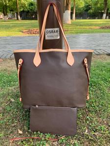 2pcs / Set High QUlity Classic Designers Femmes Sacs à main Fleur Dames Composite Fourre-tout en cuir PU Sac à bandoulière en cuir PU Porte-monnaie avec portefeuille