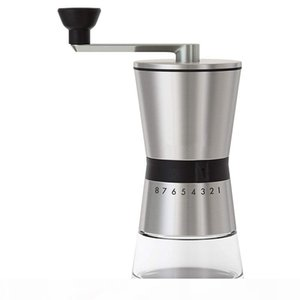 New Manual Coffee Grinder Conical Ceramic Burr Portable Hand Crank Mill 304 Stainless Steel