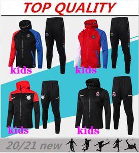 Kids 2020 2021 Football Kits Former Football Jacket 20/21 Jogging Football Tracksuit Survèlement Jeune Chandal Kids Footbal Kits