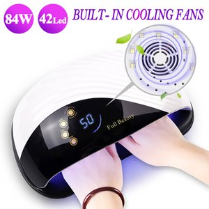 High Power Led UV Lamp Built-in Cooling Fan 10s Fast Drying Nail Dryer Lamp For Nails All Gel Touch LCD Display Manicure BEMDone Q1123