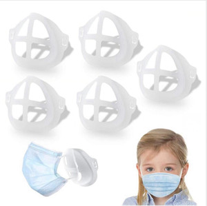 3D Mask Bracket for Adult Child Lipstick Protection Stand Mask Inner Support For Breathe Freely Face Masks Holder Tool Accessories DHB3486