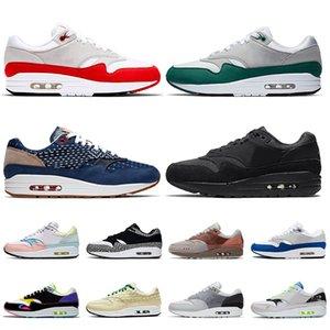 nike air max 1 2020 zapatos corrientes de calidad superior Mujeres Mens AirMaxAirMax OG Aniversario Evergreen Aura Denham Triple Negro Formadores las zapatillas de deporte