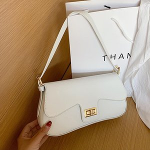 Vintage Baguette Shoulder Bag Women Crossbody Bags White PU Leather Small Totes Hobo Purses and Hanbags Lady Hand Armpit Bag