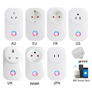 H96 2020 Tuya Cloud 10A 16A Israel WiFi Smart Socket Wireless Plug Work With Alexa Google Assistant IFTSmart Life APP1