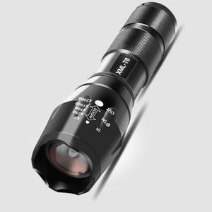 2021 Havacılık Alüminyum-Magnezyum Alaşım T6R5 Işık Feneri Beş Hızlı Teleskopik Yakınlaştırma Xenon Lamba 18650 Çift Kullanımlı Şarj Edilebilir Perakende