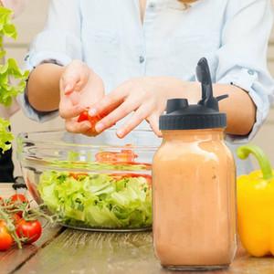 Mason-Glas-Deckel-Abdeckung Trinkflaschendeckel mit Gießlöchern breiter Mundglaskappe-Leckfehler-Flaschenabdeckung für die Küche yye3469