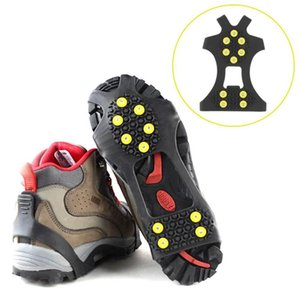 50pair Outdoor Unisex Snow Antislip Spikes Grips Grippers Crampon Cleats For Shoes Boot Overshoses 10 teeth ice claw
