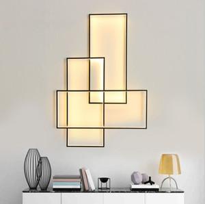 Luces de pared LED modernas para la sala de estar del dormitorio montado en la pared de la pared 90-260V LED de la lámpara de la pared de la pared