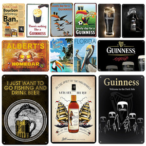 2021 funny Guinness Plaque Metal Vintage Tin Sign Pin Up Shabby Chic Decor Metal Signs Vintage Bar Decoration Metal Poster Men Save Beer