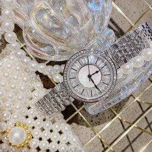 High End Elegant Silver Color Women Jewelry High-end Sparkly Zircon Crystals Watches Waterproof Full Steel Bracelets Quartz