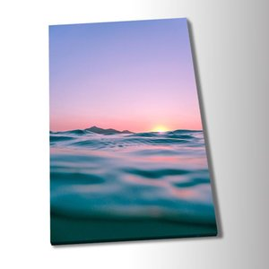 Seaside Sunset Art Poster Nordic Fashion Canvas Painting Wall Art Pictures Prints and Posters for Living Room Décor