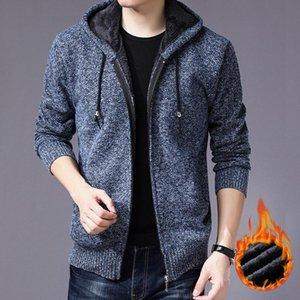 2020 sweater coat men Winter Fleece Sweate Knitwear Cardigan Plus Size Knitted Sweater Coat male Jumper winter warm
