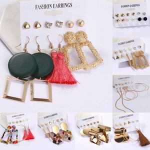 Fashion Colorful Earrings Set Fashion Tassel Earrings Jewelry Boho Drop Earring for Women Girls Valentine Birthday Party Gift Kimter-K37FA