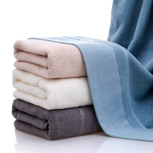 Simple Solid Color Portable Bath Towel Fashion Cotton Breathable Towels for Couple Outdoor Travel Men Women Towel