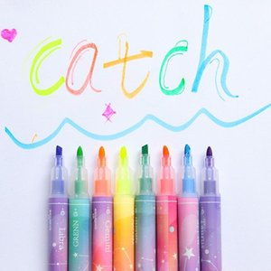 12pcs Zodiac Color Highlighter Marker Spot Liner Pen Set Galaxy Star Horoscope Pens for Drawing Highlight School Student F0651