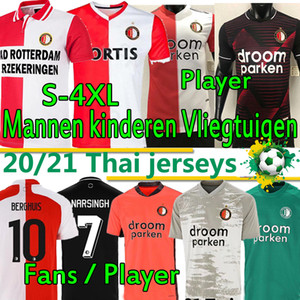 4XL Feyenoord Rotterdam Retro Soccer Jerseys 2020 2021 Version des fans Version du joueur Berghuis 1994 95 2007 2008 Chemises de football Hommes Kits Enfants Formation