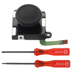 Left and Right 3D Analog Joystick Rocker Thumb Rod Stick with Screwdriver for Switch Joy-con Controller