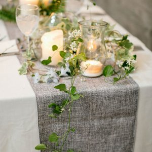 1pcs Rustic Table Runner Natural Imitated Linen Table Cloth Wedding Decor for Wedding Christmas Party C0125