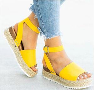 Hot Sale- Wedges Shoes For Women Sandals Plus Size High Heels Summer Shoes Flip Flop Chaussures Femme Platform Sandals