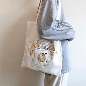 Женщины Холст Сумки для покупок Девушки Печать Студенты ECO Многоразовые Сумки Складные Сумки Складные Сумки Повседневная сумка Дамы Повседневная Tote