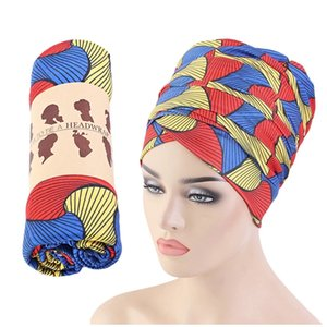 New Women's Long Scarf African Printed Muslim Hijab Head Scarves Extra Long Tail Head Wrapped Turban Headscarf 170*80cm New