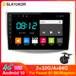 4GB RAM 64GB ROM Car Radio For VW Volkswagen Magotan Passat B6 B7 Android 10 Autoradio Multimedia GPS DVR Camera no 2 Din Wifi
