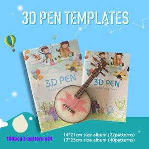 22patterns 40patterns 3d القلم قالب نمط كتاب كتاب ألبوم مع كتابات لوحة الرسم السينمائي ل myriwell sunlu 3d أجزاء أداة القلم