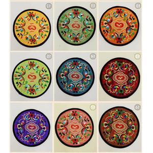 Bordado Paño Redondo Mesa de montura Mesa Placemats Floral Imprimir Taza De Café Pads Taza Resistente al calor Non Slip Mesa Mats Coaster PortAvasos