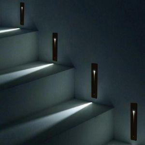 Empresado interior impermeable LED de la escalera de la escalera Rectángulo AC100-240V Indoor LED Wall Sconence Escaleras de iluminación Paso Escalera de la escalera Lámpara