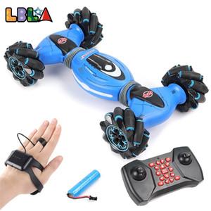 LBLA jest indüksiyon uzaktan kumanda dublör rc araba 4wd büküm off-road araç ışık müzik drift dans sürüş oyuncak çocuklar için 201218