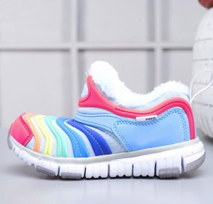 2021 The caterpillar fur free run Children Running shoes boy girl youth kid sport air Sneaker size 28-35
