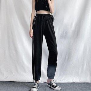 Sports Pants Women's Summer Walking Sweatpants Thin Loose Trousers 2020 Wide Leg Joggers Female Casual Sooth Lantern Long Pants