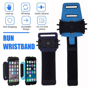 Wristband Phone Holder Workout Phone Armband 180°Rotatable Universal Sports Wristband Cycling Gym Arm band Bag