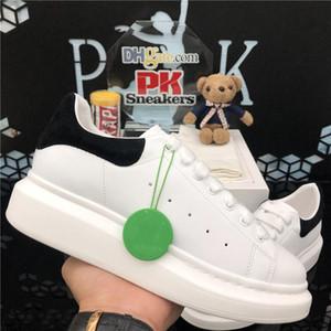 Top Quality 2020 Lace-up Plataforma Casual Homens Mulheres Sapatos Balck Branco Golden Leather Falt Sneakers Moda Homens Mulheres Sapatos com Caixa