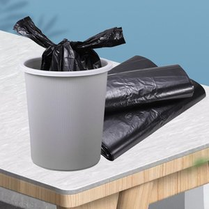 Thickened Trash Bags Supermarket Shopping Bags Portable Household Black Trash Bag Disposable Vest-shape Plastic Garbage Bags EEF3552