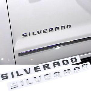 3D estéreo carro lateral lateral traseiro cauda tronco letras logo adesivo para chevrolet silverado high country nameplate carro sintonização