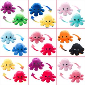 Reversible Flip Octopus Doll Double-sided Flip Doll Plush Stuffed Toy Reversible Octopus Doll Animal Children Gifts Party Favor HH9-3655