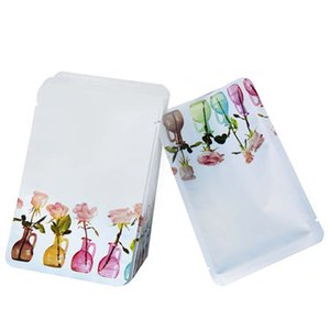 100 Pcs Lot Cosmetic Mask Packaging Heat Sealed Foil Bag with Tear Notch Small Sample Pouches for Tea Candy Food Packing