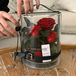 Eternal Flowers Rose in box for Valentine's Day Wedding Gift Birthday Gifts Christmas Decorations Preserved Roses Gift Box Y1128