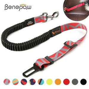 Benepaw Premium Durable Dog Car Seat Belt Fashion Adjustable Heavy Duty Pet Dog Safety Belt Elastic For Vehicle Accessories Q1118