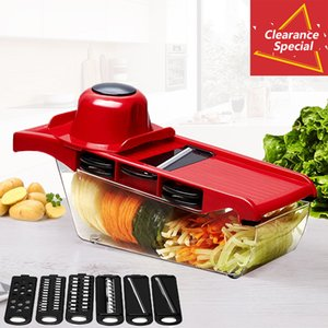Mandoline Slicer Vegetable Cutter with Stainless Steel Blade Manual Potato Peeler Carrot Cheese Grater Dicer Kitchen Tool Y1204