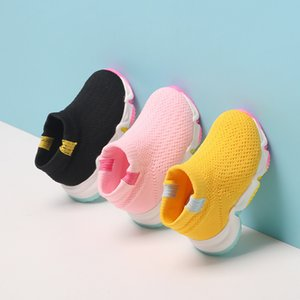 2020 Autumn Infant Toddler Shoes Baby Girls Boys Casual Boots High Quality Soft Bottom Children Kids Breathable Mesh Shoes Y1118