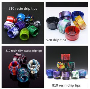 510 810 528 Epoxy Resin Drip Tips Wide Bore Mouthpiece Vape Drip Tips for TFV8 TFV12 Prince Atomizer