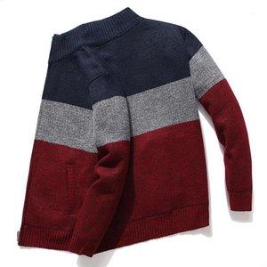 الرجال سترة معطف 2020 ربيع الخريف رجل مقنع شريط معطف سميكة سستة الصوف سترة الوقوف الياقة سميكة سترة لاعبا الذكور 1