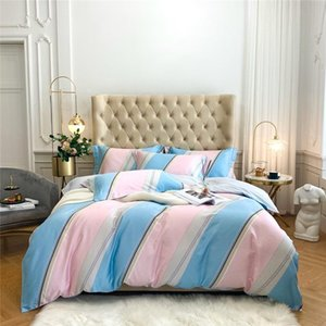Luxury 100%Cotton Classic Printed Bedding Set high quality Duvet Cover Bed Sheet Pillowcases Queen King Size 4Pcs promote sales