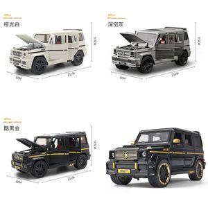 1:24 Modelo de carro de liga coletivo grande G65 carro de brinquedo (M929Y-6) novo vesion fosco preto / branco / cinza pintura portas abertas y1130