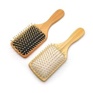 Кисти для волос Массаж Кисть Деревянные Весло Женщины Мужчины Брелок Сетчатый набор