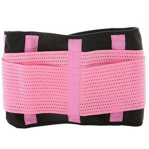 Adjustable Slimming Belt Belly Trainer Waist Support Fitness Sports Waist Protector Belt Pink Waistband L
