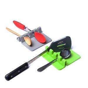 Küchenutensilien Restlöffel Topf Pan-Deckel-Topf-Schaufel-Halter Lebensmittelqualität Silikon-Werkzeuge Regal Küchenzubehör Kostenloses Schnellmeer Versand DHC4744